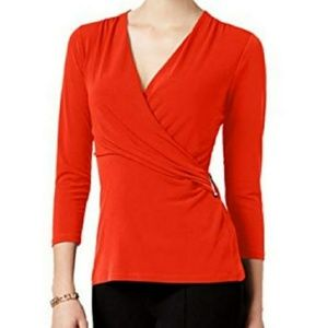 NWT Charter Club Red Blouse